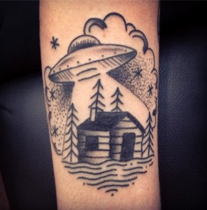 UFO Tattoo Images