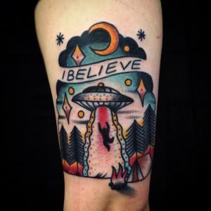 UFO Tattoo Small