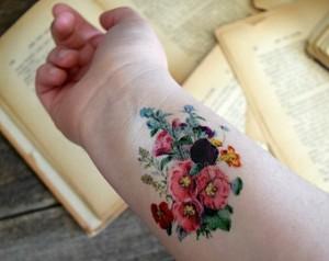 Vintage Wildflower Tattoo