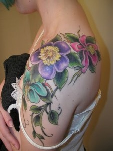 Wildflower Tattoo Shoulder