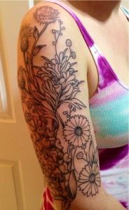 Wildflower Tattoo Sleeve
