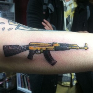 Ak 47 tattoos designs ideas and meaning tattoos for you for Ak tattoo gun