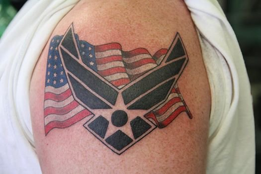 air force logo tattoo pictures to pin on pinterest tattooskid. Black Bedroom Furniture Sets. Home Design Ideas