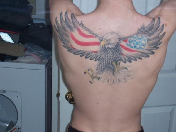 American eagle tattoos designs ideas and meaning for Eagle wings tattoo