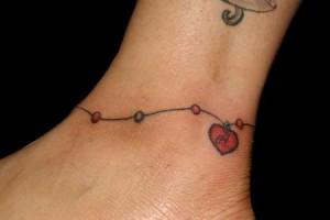 Ankle Bracelet Tattoos for Girls