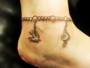 Ankle Bracelets Tattoos