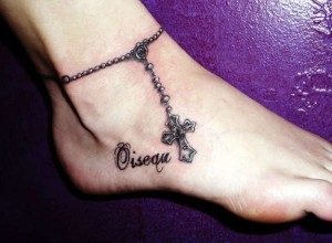 Anklet Tattoos with Names