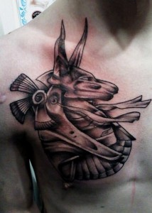 Anubis Chest Tattoo