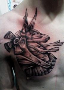 Anubis Chest Tattoo