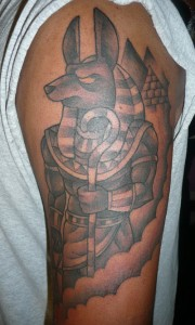 Anubis Tattoo Arm