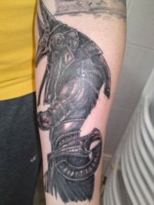 Anubis Tattoo Sleeve