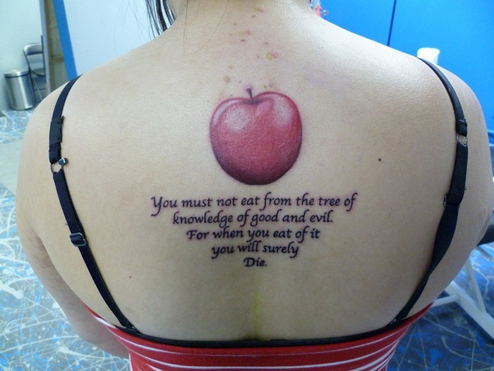 Apple Tattoos Designs Ideas And Meaning Tattoos For You