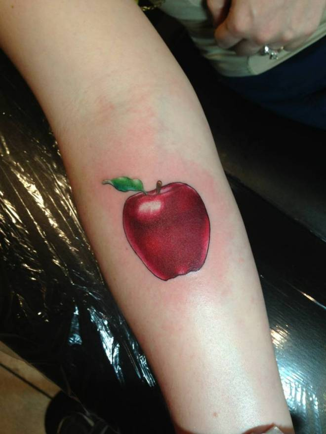 Apple Tattoos Designs, Ideas and Meaning | Tattoos For You