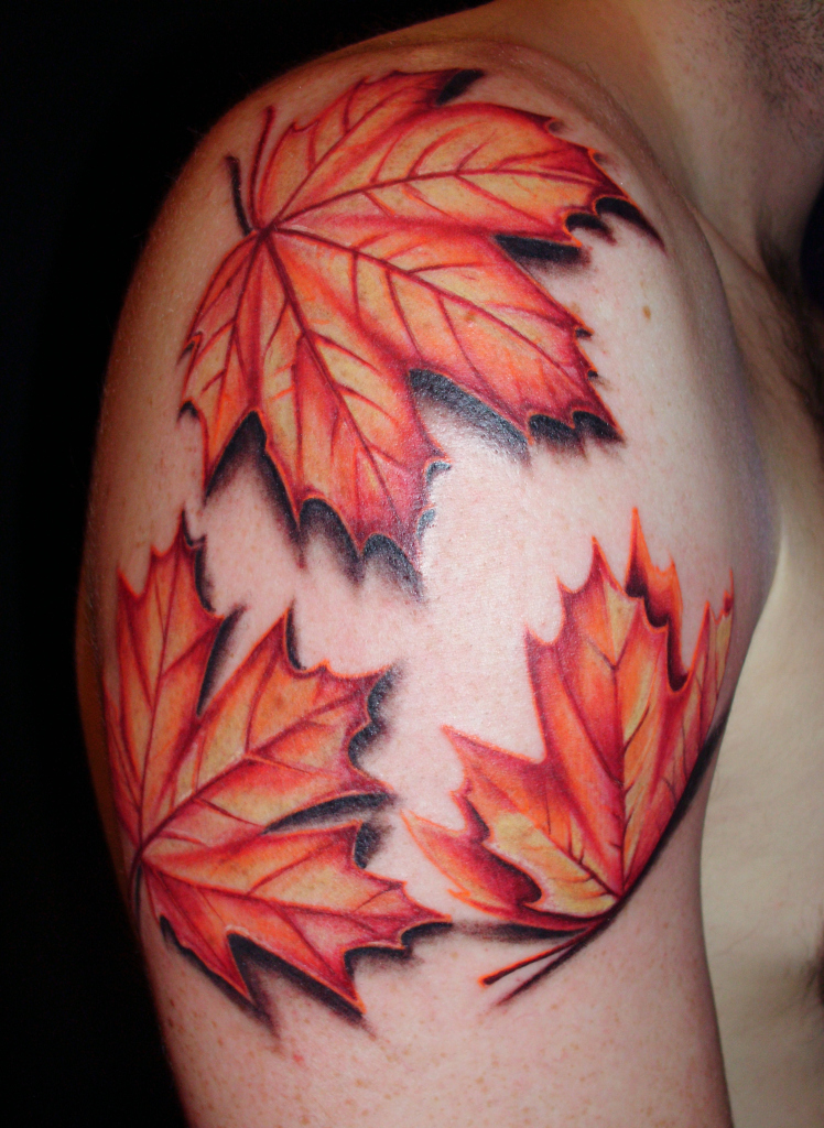Leaf tattoos designs ideas and meaning tattoos for you for Fall tree tattoo