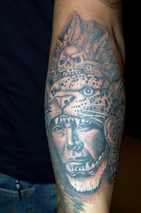 Aztec Warrior Tattoo Forearm