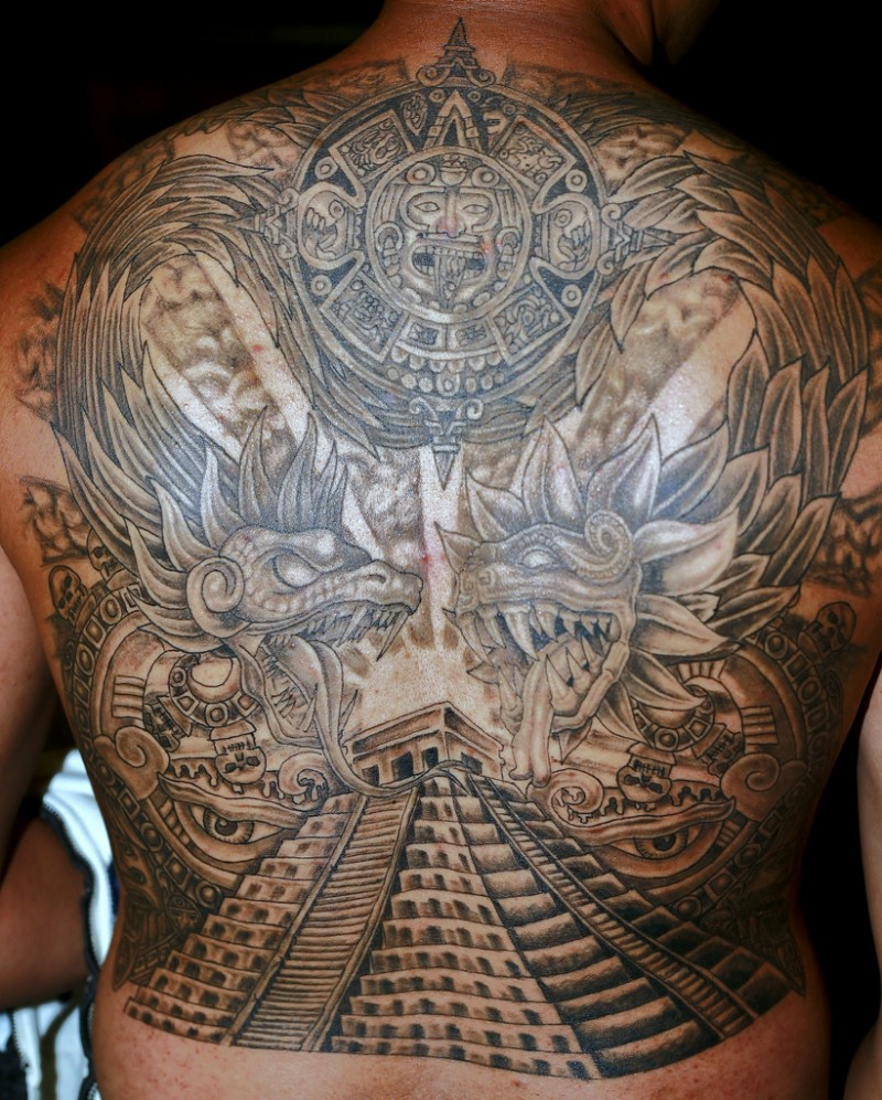 Pyramid tattoos designs ideas and meaning tattoos for you for Back mural tattoo designs
