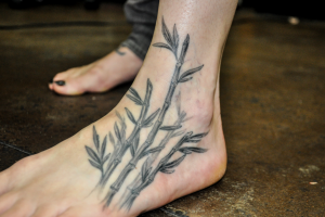 Bamboo Tattoo Leg