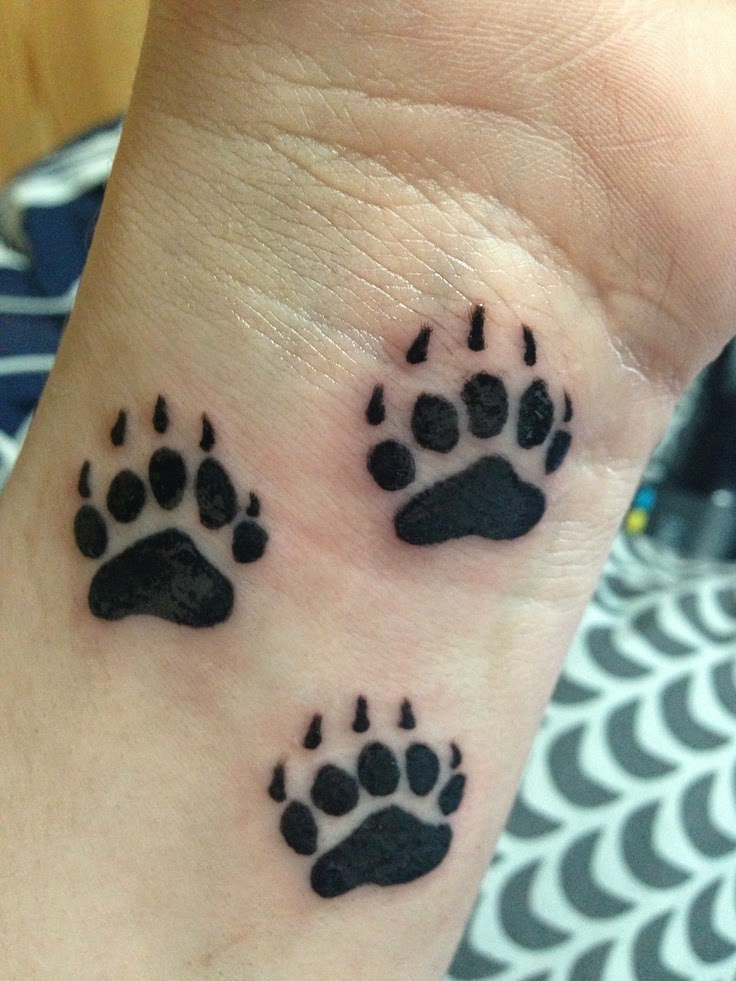 Bear Paw Tattoos Designs, Ideas and Meaning | Tattoos For You