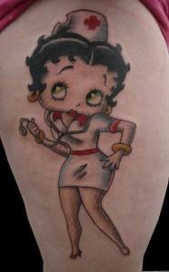 Betty Boop Nurse Tattoos
