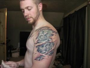 Biomech Arm Tattoo