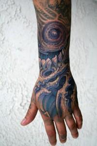 Biomech Hand Tattoo