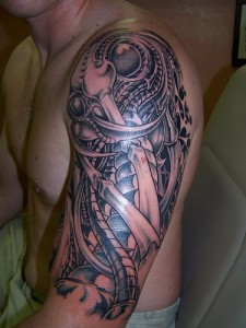 Biomech Sleeve Tattoos