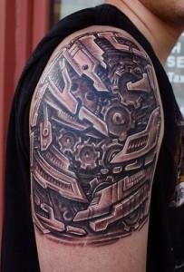 Biomech Tattoo Designs