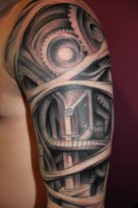 Biomech Tattoo Half Sleeve