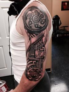 Biomech Tattoo Sleeve