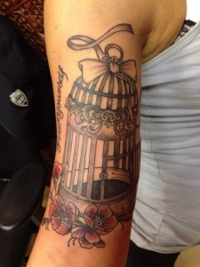 Bird Cage Tattoo Sleeve