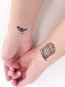 Bird Cage Tattoo Wrist