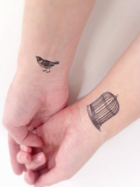 Birdcage tattoo on wrist for Bird tattoos on wrist meaning