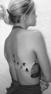 Bird Cage Tattoo on Ribs