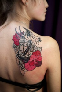 Bird Cage Tattoo on Shoulder