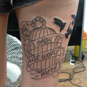 Birdcage Tattoo Thigh
