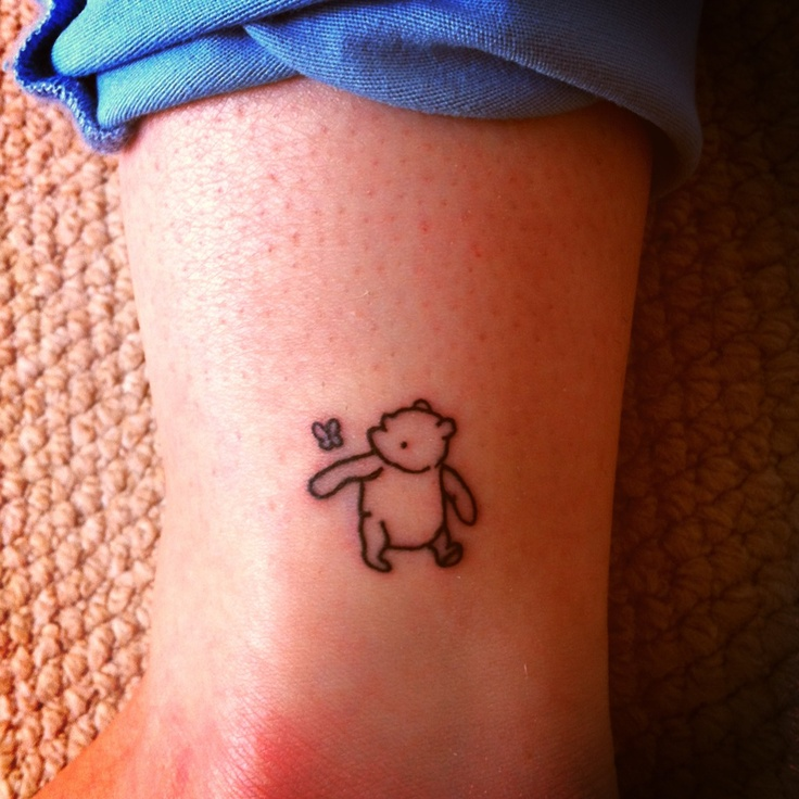 Small Black And White Tattoo Designs: Winnie The Pooh Tattoos Designs, Ideas And Meaning