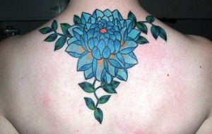 Blue Dahlia Tattoo