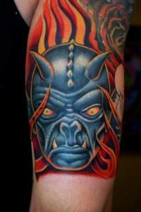 Blue Devil Tattoo