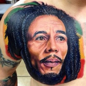 Bob Marley Chest Tattoos