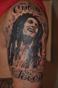 Bob Marley One Love Tattoos