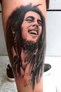 Bob Marley Tribal Tattoos