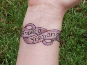 Bracelet Tattoo with Names