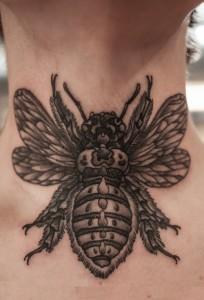 Bumble Bee Tattoo Black and White