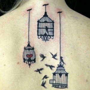 Caged Bird Tattoos