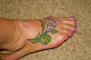 Calla Lily Tattoo on Foot