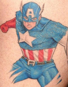 Captain America Chest Tattoo