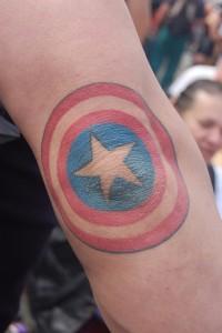 Captain America Elbow Tattoo