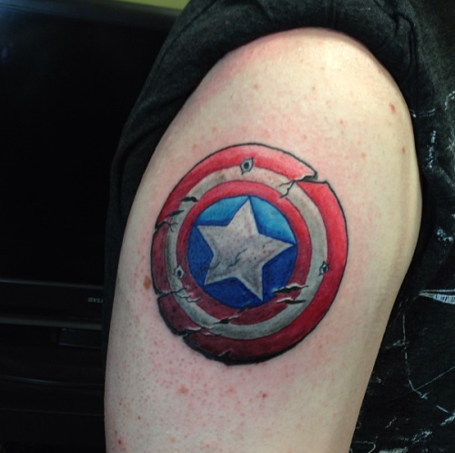 captain america tattoos designs  ideas and meaning