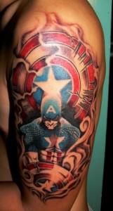 Captain America Tattoo Designs