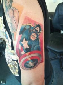 Captain America Tattoo Pictures
